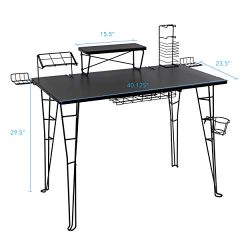 Atlantic Gaming Original Gaming Desk – 32 inch TV Stand, Charging Station, Speaker/5 Game/ ...