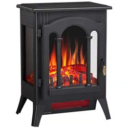 Joy Pebble 3D Infrared Electric Fireplace Stove with Realistic Flame Effect – 1000/1500W F ...