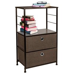 Sorbus Nightstand 2-Drawer Shelf Storage – Bedside Furniture & Accent End Table Chest  ...