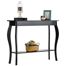 ChooChoo Narrow Console Table, Silm Entryway Table, Wood Sofa Table for Entryway Hallway, Easy A ...