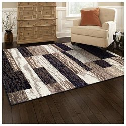 Superior Designer Rockwood Area Rug, 6′ x 9′, Chocolate