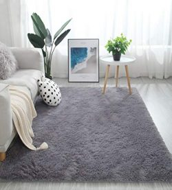 Fluffy Soft Kids Room Baby Nursery Rug, Anti-Skid Large Shaggy Fur Area Rug, Luxury Comfy Bedroo ...