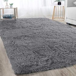 Soft Modern Indoor Large Shaggy Rug for Bedroom Livingroom Dorm Kids Room Home Decorative, Non-s ...