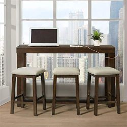 Picket House Furnishings Multipurpose Bar Table Set (Dark Walnut)
