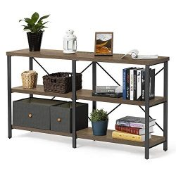 KICODE Console Table, 55 Inch Entryway Table, Sofa Table with Storage Shelf, Industrial Hallway  ...