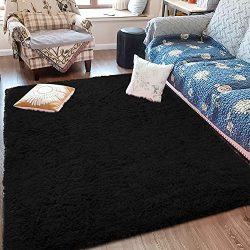 Fluffy Soft Kids Room Rug Baby Nursery Decor, Anti-Skid Large Fuzzy Shag Fur Area Rugs, Modern I ...
