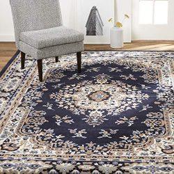 Home Dynamix Sakarya Traditional Area Rug, 7'8″x10'7″ Rectangle, Navy Blue