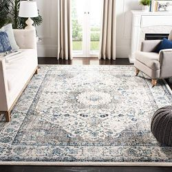 Safavieh Evoke Collection EVK220D Vintage Oriental Grey and Ivory Area Rug (10′ x 14′)