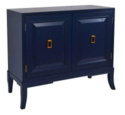 Pulaski Navy Blue Two Door Chest Accents,
