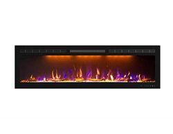 Mystflame 60 inch Fireplace Recessed, Insert and Wall Mounted Slimline Electric Fireplace with 7 ...