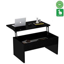 Evomax Modern Design Lift-Top Coffee Table Decor for Living Room Space Saving Living Room Lift T ...