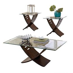 Steve Silver Cafe Occasional 3-Piece Set – Dark Oak