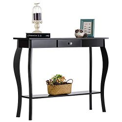 ChooChoo Entryway Console Table with Drawer, Behind Sofa Tables Narrow, Hallway Table for Entryw ...