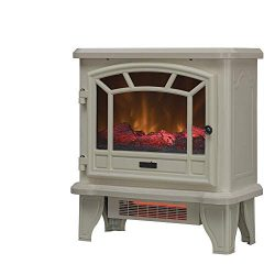 Duraflame Electric Fireplace Stove 1500 Watt Infrared Heater with Flickering Flame Effects ̵ ...
