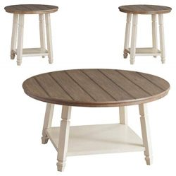 Signature Design by Ashley – Bolanbrook Farmhouse Occasional Coffee Table Set of 3, Antiqu ...