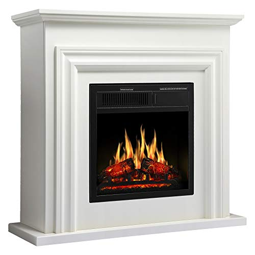 """JAMFLY 36"""" Electric Fireplace with Mantel Package Freestanding Fireplace Heater Corner Fir ..."""