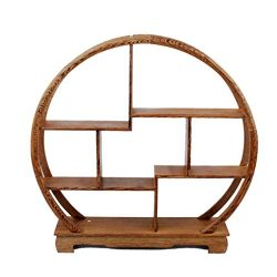 NWFashion Chinese Wooden Assemble Display Stand Home Decoration Curio Cabinets Shelf (4)