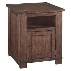 Signature Design by Ashley Budmore Rectangular End Table Brown