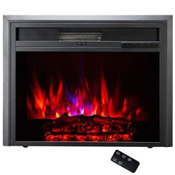 """TAGI 26"""" Embedded Electric Fireplace Insert, Recessed Electric Stove Heater with Remote Co ..."""