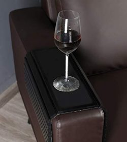 GEHE Sofa Arm Tray Table for Couch Flexible/Foldable Sofa Tray Couch arm Table Perfect for Drink ...