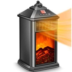 Fireplace Heater – Space Heater for Office, Electric Fireplace Heater 800W with Adjustable ...