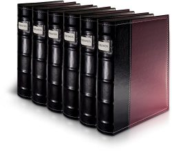 Bellagio-Italia Burgundy DVD Storage Binder Set – Stores Up to 288 DVDs, CDs, or Blu-Rays  ...