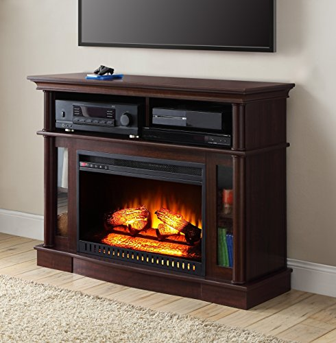 Cherry Finish Better Homes And Gardens Remote Control Ashwood Road Electric Fireplace Media Cons ...