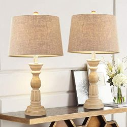 Oneach Table Lamps Set of 2 for Living Room Bedside Desk Lamps Vintage Bedroom Lamps for Study K ...