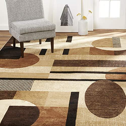 Home Dynamix Tribeca Jasmine Modern Area Rug, Abstract Brown/Beige 7'10″x10'6& ...