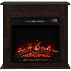 BELLEZE 1400W 25″ Deluxe Electric Fireplace Mantel Heater Insert Freestanding Portable Sto ...