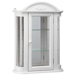 Design Toscano Rosedale Wall Curio Cabinet, Lily White