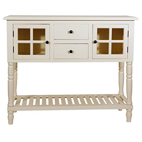 Morgan Two Door Console Table (Antique White)