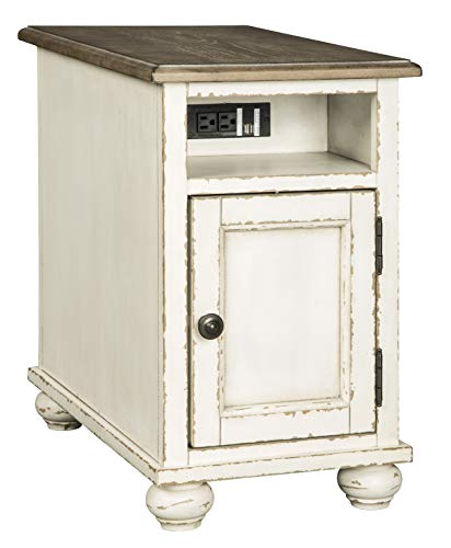 Signature Design by Ashley Realyn Chair Side End Table White/Brown
