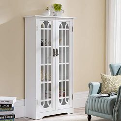 Southern Enterprises Display cabinet, silver