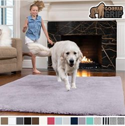 Gorilla Grip Original Faux-Chinchilla Rug, 6×9 Feet, Super Soft and Cozy High Pile Washable ...