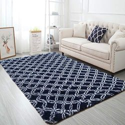 Softlife Fluffy Bedroom Area Rugs 4′ x 6′ Geometric Collection Rug Mordern Indoor Sh ...