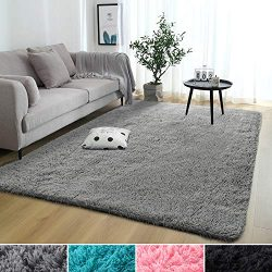 Rostyle Super Soft Fluffy Nursery Rug for Kids Teens Room Comfy Cute Floor Carpets Kids Playing  ...