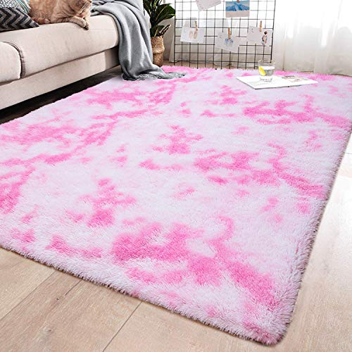 YJ.GWL Soft Indoor Large Modern Area Rugs Shaggy Fluffy Carpets Suitable for Living Room and Bed ...
