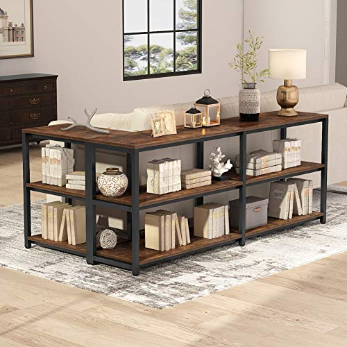 Tribesigns 70.9 inches Extra Long Console Sofa Table Behind Couch, 3-Tier Industrial Entryway Ta ...