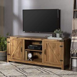 Walker Edison Furniture Company Farmhouse Barn Wood Universal Stand for TV's up to 64̸ ...
