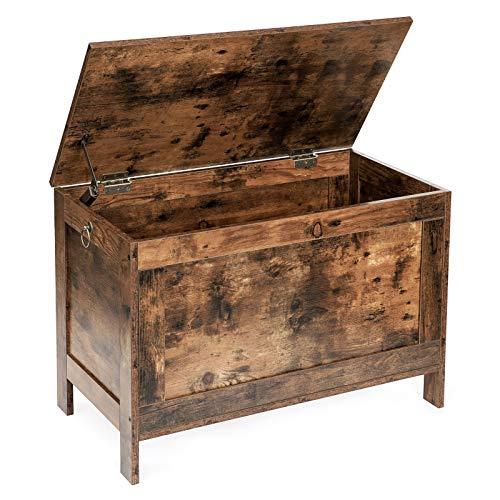 HOOBRO Storage Chest, Retro Toy Box Organizer with 2 Safety Hinge, Sturdy Entryway Storage Bench ...