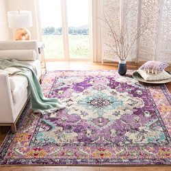Safavieh Monaco Collection MNC243L Bohemian Chic Medallion Distressed Area Rug, 8′ x 10 ...
