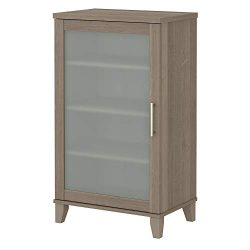 Bush Furniture AD81640 Somerset Media Storage Cabinet, Ash Gray