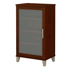 Bush Furniture AD81740 Somerset Media Storage Cabinet, Hansen Cherry