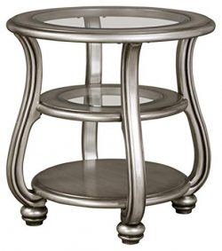 Signature Design by Ashley – Coralayne End Table, Silver