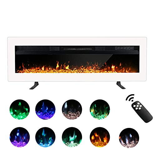 Maxhonor 40 Inches Electric Fireplace Insert Wall Mounted Freestanding Heater with Remote Contro ...