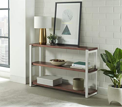 3 Shelf Modern Studio Entryway Console Table for Hallway, Living Room; Side or Accent Table; TV  ...