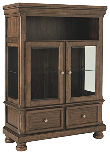 Signature Design By Ashley – Flynnter Curio Cabinet – 2 Drawer – Casual Style  ...