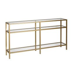 Henn&Hart Modern Console Table, 55″, Gold