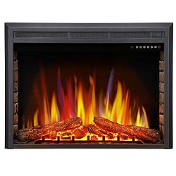 Antarctic Star 36″ Electric Fireplace Insert, Freestanding & Recessed Electric Stove H ...